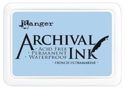 Ranger Archival Ink Pad, French Ultramarine - 90mm x 62mm